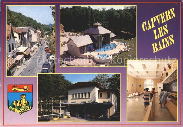 Capvern les Bains Rue principale La piscine ludique Les Thermes du Bouride La buvette