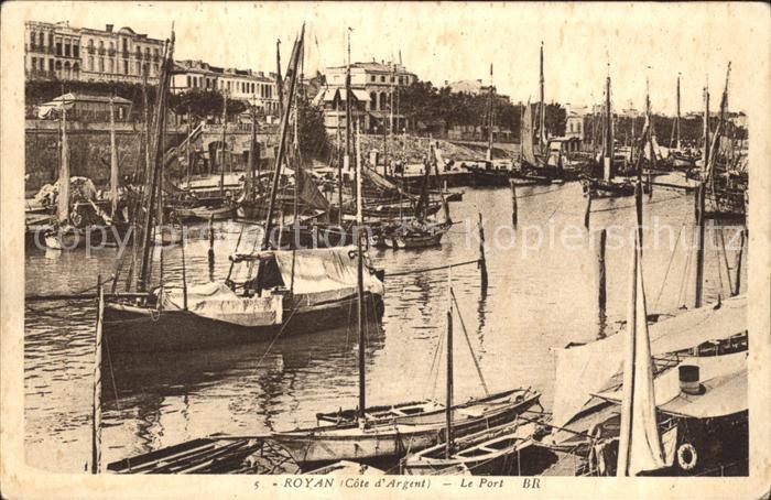 Royan Charente Maritime Le Port Bateaux Kat. Poitiers Charentes