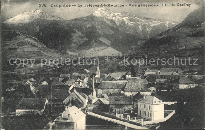 Le Trieves Saint Maurice Vue generale et les Alpes
