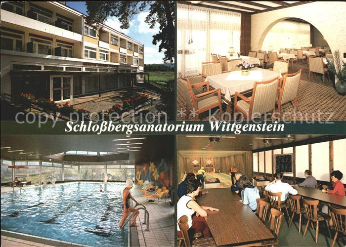 Laasphe Schlossbergsanatorium Wittgenstein Kat. Bad Laasphe