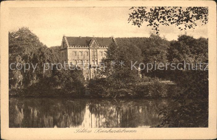 Schloss Reinhardsbrunn Original Gravuere Karte  Kat. Friedrichroda