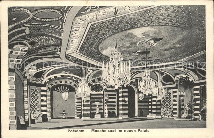 Potsdam Muschelsaal neuen Palais Kat. Potsdam