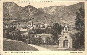 Notre Dame de la Salette Entree du Village Sanctuaire Kat. La Salette Fallavaux