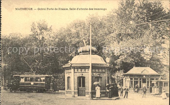 Maubeuge Nord Octroi Porte de France Salle d attente des tramways Kat. Maubeuge