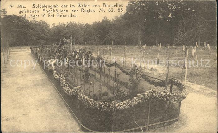 Boncelles Soldatengrab Regter. 74 82 83 Jaeger 10 No. 39c Kat.