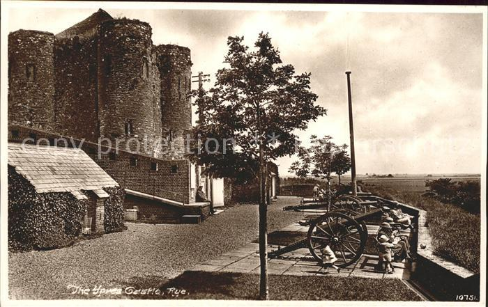 Rye East Sussex Castle Kanonen Kat. East Sussex