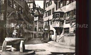 Stuttgart Altstadt Hans im Glueck Brunnen Kat. Stuttgart