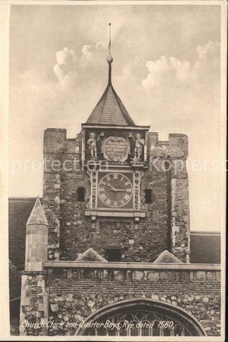 Rye East Sussex Church Clock Quarter Boys Kat. East Sussex