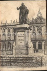 Nancy Lothringen Statue de Stanislas Monument Hotel de Ville / Nancy /Arrond. de Nancy