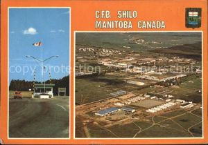 Manitoba CFB Shilo Main Gate Aireal Showing west german forces buildings  Kat. Kanada