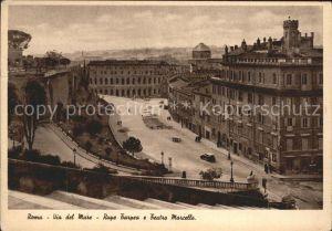 Roma Rom Via del mare Rupe Tarpea e Teatro Marcello Kat.