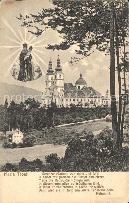 Maria Trost Kloster Gnadenbild Kat. Mariatrost Graz