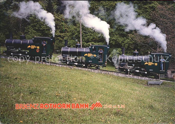Brienz Rothornbahn Lokomotiven Brienz am See  Kat. Eisenbahn