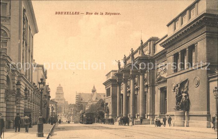 Bruxelles Bruessel Rue de la Regence Kat.