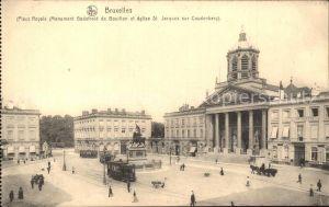 Bruxelles Bruessel Place Royale Monument Godefroid de Bouillon Eglise St Jacques Kat.