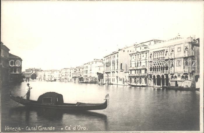Venezia Venedig Canal Grande e Canal d Oro Kat.