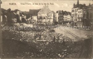 Namur Wallonie Grande Place Rue du Pont Ruines Grande Guerre 1. Weltkrieg Kat.