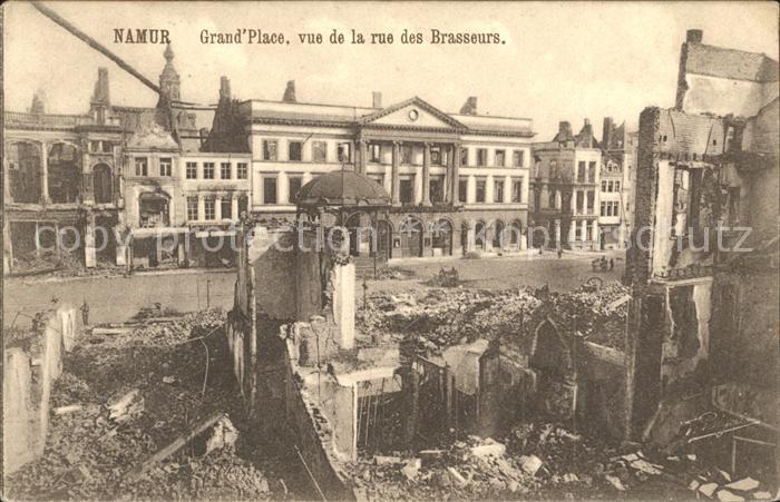 Namur Wallonie Grande Place Rues des Brasseurs Grande Guerre 1. Weltkrieg Kat.