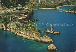 Taormina Sizilien Fliegeraufnahme Capo Taormina Kat.