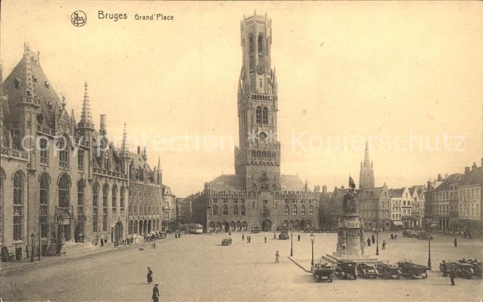 Bruges Flandre Grand Place Kat.