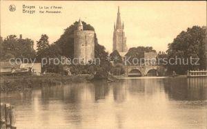 Bruges Flandre Le Lac d Amour La Tour l Eglise Kat.