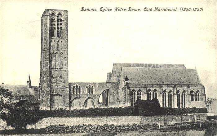 Damme West Vlaanderen Eglise Notre Dame Kat.