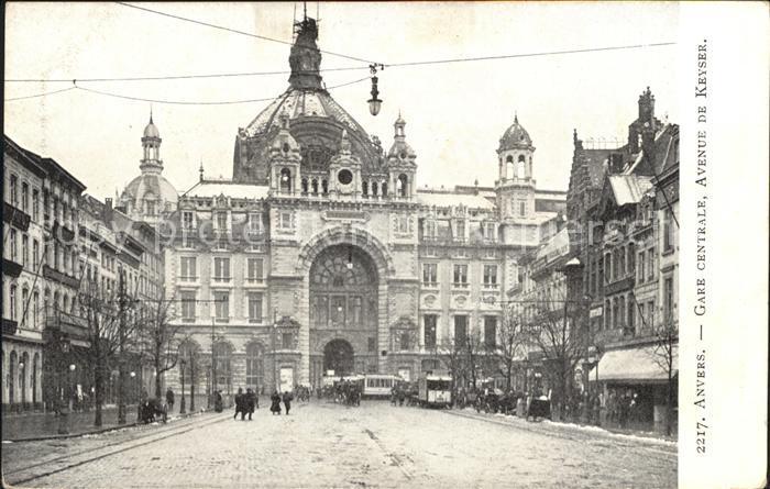 Anvers Antwerpen Gare centrale Avenue de Keyser Kat.
