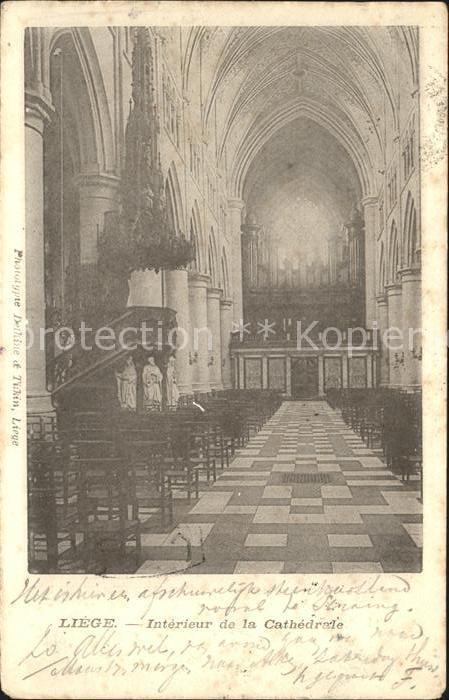 Liege Luettich Interieur de la Cathedrale Kat. Luettich