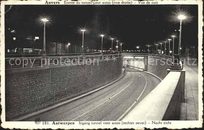 Antwerpen Anvers Ingang tunnel voor autos  Kat.