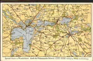 Schleswig Holstein Auto und Wanderkarte Holsteinische Schweiz