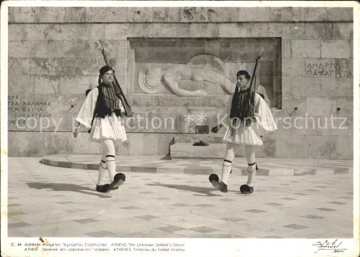 Athen Griechenland Denkmal Unbekanntes Soldaten  Kat.