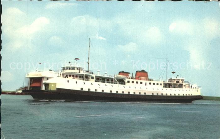 Breskens Provincial ferry boat Flushing Breskens Kat.