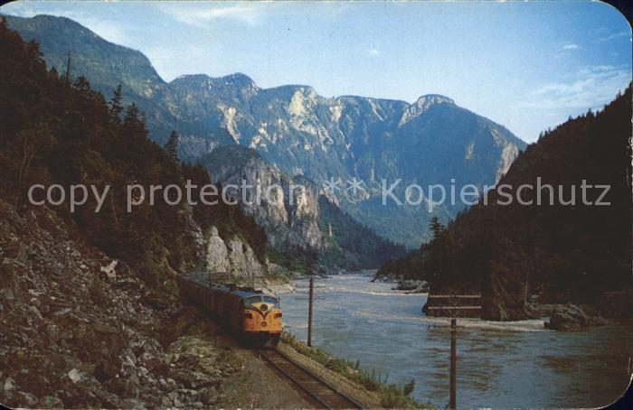 Canada State Canadian National Railways Super Continental Canadian Rockies at Hells Gate Kat.