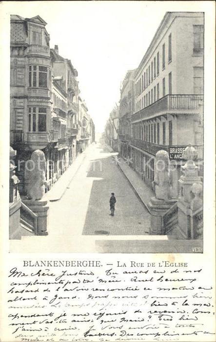 Blankenberghe La Rue de l Eglise Kat.