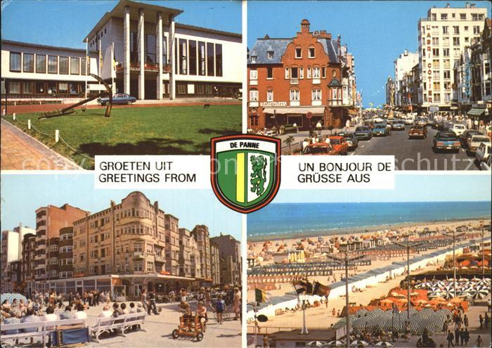 De Panne Teilansichten Strand Promenade Kat.