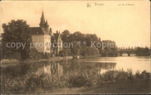 Bruges Flandre Le lac d Amour Kat.