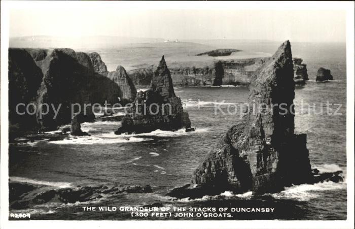 Duncansby Bay Grossbritannien Brandung in den Felsen Kat.