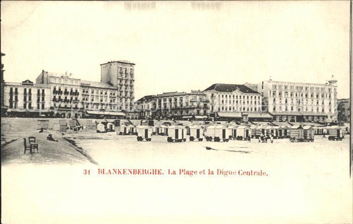 Blankenberghe La Plage et la Digue Centrale /  /