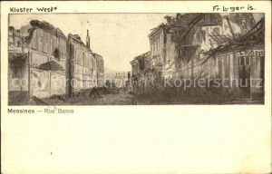 Messines Rue Basse Kloster West /  /