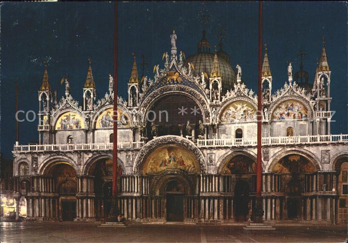 Venezia Venedig di notte Basilica di San Marco Kat.