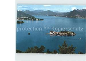 Stresa Lago Maggiore Fliegeraufnahme mit Inseln