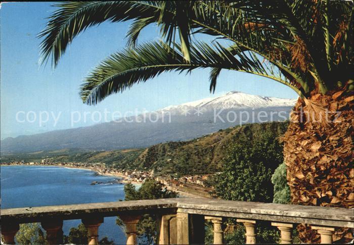Taormina Sizilien Blick von der Villa Marzotto Kat.