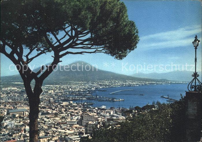 Napoli Neapel Panorama Vesuv Kat. Napoli