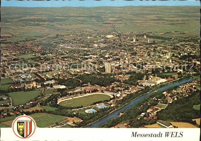 Wels Messestadt Luftbildaufnahme