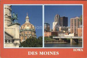 Des Moines Iowa Motiv Teilansicht Kat. Des Moines