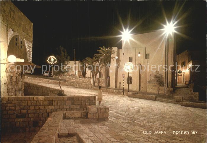 Jaffa Strassenpartie bei Nacht Kat. Israel