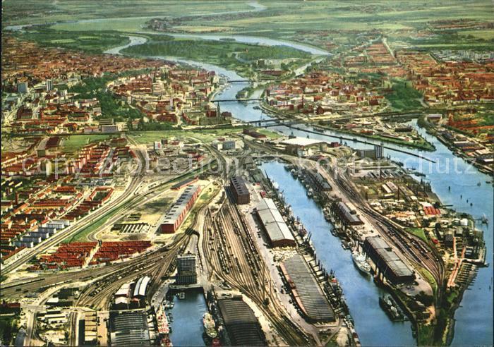 Bremen Hafen Fliegeraufnahme Kat. Bremen