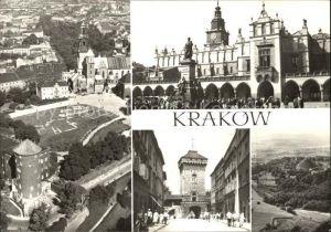 Krakow Malopolskie Wawel Sukiennice i pomnik Adama Mickiewicza Brama Florianska Kopiec Tadeusza Kosciuszki Residenz Tuchhallen Tor Kat. Krakow