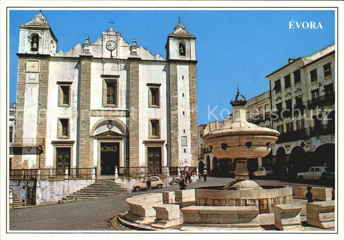 Evora Placa Geraldo Kirche Santo Antao Kat. Evora