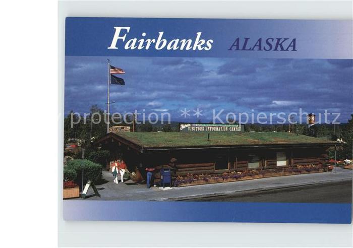 Fairbanks Alaska Long Cabin Visitors Center Kat. Fairbanks